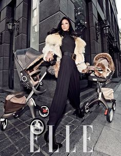 This is how we love to see the Stokke Xplory! Love this shoot in Elle Korea. Pret a Pregnant - For Fashion Moms
