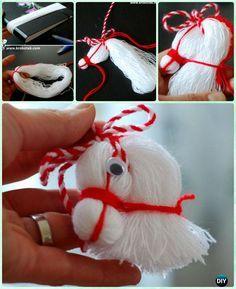DIY Thread Horse Head Ornaments Instruction-DIY Christmas Ornament Craft Ideas For Kids