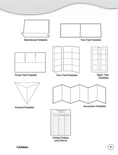 Foldables Book (templates) 51 pages Science Notebooks, Interactive Notebooks, Science Classroom, School Classroom, Lap Book Templates, 4th Grade Social Studies, Math Graphic Organizers, Teaching Grammar, Teaching Strategies