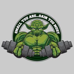 Master Yoda told Luke size matters not, but the master lied to his student. The Yoda Small You Are... Gain You Must T-Shirt reveals Yoda's true philosophy when it comes to kicking butt as a Jedi. Maybe he didn't share the info