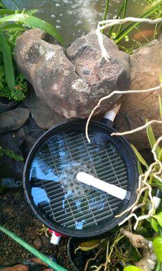 Diy 55 gallon barrel pond filter aquaponics filter for Homemade biofilter for duck pond