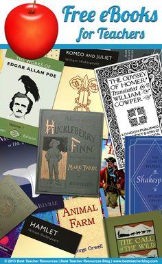 14 Websites That Offer Free eBooks for Teachers http://bestteacherblog.com/websites-that-offer-free-ebooks-for-teachers/