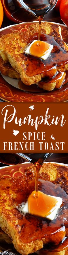 Best Ever Pumpkin Spice French Toast ~ Crazy good yet distinctive, this Pumpkin French Toast will knock your socks off. It is made with bourbon and Trader Joe's pumpkin butter. Perfect for weekend mornings as well as the Thanksgiving and Christmas holidays. Everyone will LOVE it! | breakfast brunch recipe