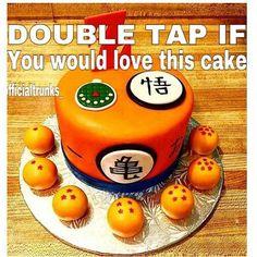 I would wished this was my birthay cake  Tag friends! #cake #dbz #dragonballz…