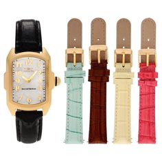 Women's Invicta Lupah 13834 Stainless Steel Mother of Pearl Dial Leather Strap Watch Set - Multicolor,