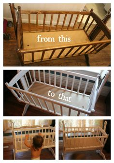 """A bassinet the hubs and I restored. <3 """"What a Lovely transformation"""""""