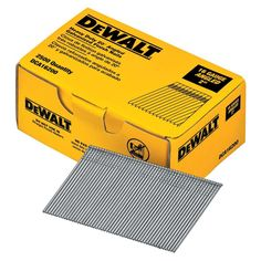 Dewalt 2 In 16 Gauge Angled Finish Nails 2500 Pack Dca16200 It Is Finished Finishing Nails Home Depot