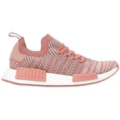 Adidas Originals Women Nmd R1 Stlt Primeknit Sneakers (2.080 NOK) ❤ liked on Polyvore featuring shoes, sneakers, pink, rubber sole sneakers, adidas originals trainers, rubber sole shoes, pink sneakers and adidas originals shoes