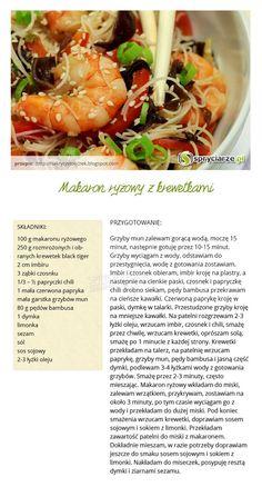 Przepis na makaron ryżowy z krewetkami