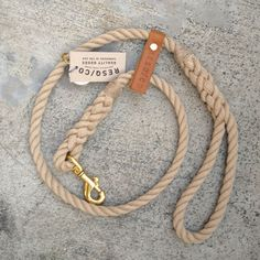 "Rope Dog Leash / RESQ Leash ""The Strong"" Rope Leash  (natural) so stylish and a little boaty. $50 on etsy. cheers, dana"