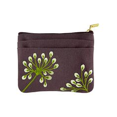 Zip Wallet (S) - Embroidered Dandelion (Plum - Bronze) Red Blossom http://www.amazon.com/dp/B00OU0FTKW/ref=cm_sw_r_pi_dp_Tn8Nub0Z1V6FS