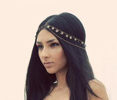 Женщины мода металл горный хрусталь глава сеть ювелирных повязка на голову головной убор волос группа