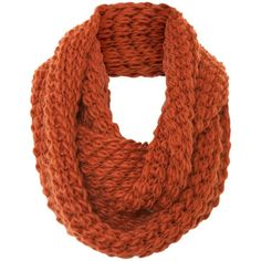 A|Wear Rust Texture Knit Snood ($15) ❤ liked on Polyvore featuring accessories, scarves, accessories - scarves, bufandas, rust and snood scarves