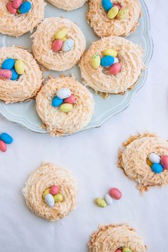 Toasted Coconut Meringue Nests | A cute and easy cookie recipe for Easter.