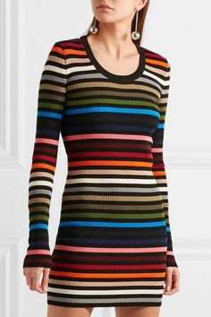 Multicolored ribbed-knit Slips on 61% polypropylene, 39% cotton Dry clean Made in Italy