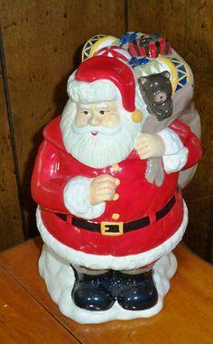 Large Ceramic Santa Cookie Jar | eBay
