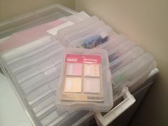 Cheap and portable way to store all your filofax supplies. I just bought a photo case from michaels for 30 dollars!