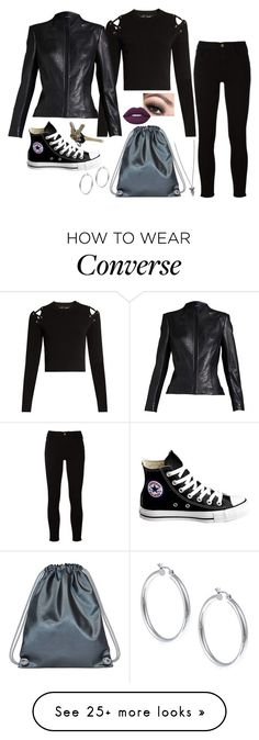 """Untitled #1905"" by daisytrain on Polyvore featuring Proenza Schouler, Frame, Converse, Boo, Avon, Lime Crime, Sterling Essentials and Chapter"