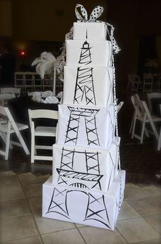 Love this simple Eiffel Tower decor for a Parisian themed birthday party. Paris Themed Birthday Party, 10th Birthday Parties, Birthday Party Themes, Paris Prom Theme, Spa Birthday, Paris Bridal Shower, Paris Baby Shower, Bridal Showers, Deco France