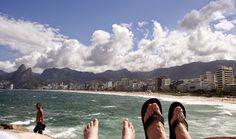 Uitzicht over Ipanima beach met z'n...