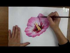 꽃 그림 그리기 '무궁화' │성북구 오늘미술학원 - YouTube Watercolor Painting Youtube, Acrylic Painting Tips, Watercolor Projects, Painting Videos, Watercolour Tutorials, Painting Lessons, Watercolor Techniques, Diy Painting, Painting & Drawing