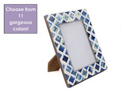 Custom Moroccan Bone Inlay Wooden Picture Frame  by Roomattic