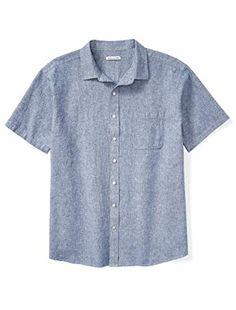 Best Mens Flannel Shirts, Cool Shirts, Amazon Essentials, Mens Essentials, Mens Big And Tall, Big & Tall, Collarless Shirt Men, Blue Shirt With Jeans, Sun Shirt