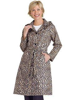 AmeriMark Women's Packable Raincoat - 1X (16W-18W) - Leopard