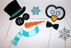 Christmas Party Props Frosty the Snowman by PAPERandPANCAKES, $35.00