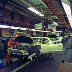 All sizes | 1975 - Ford Dearborn Assembly Plant Final Line | Flickr - Photo Sharing!