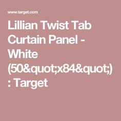 "Lillian Twist Tab Curtain Panel - White (50""x84"") : Target"