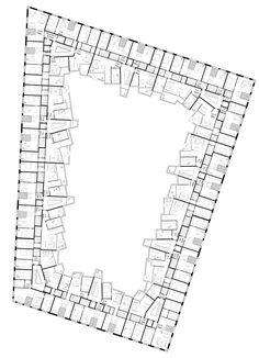 WA 6 Prinz-Eugen-Park - München - 03 Arch. - 2016. Arquitectura. Vivienda colectiva. Viviendas. Dibujos. Plantas