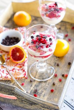 Looking for heart healthy dessert to serve on Valentine's Day? Serve my Blood Orange Parfaits with Dark Chocolate Chips & Pomegranate Arils. Tart Recipes, Brownie Recipes, Candy Recipes, Cupcake Recipes, Dessert Recipes, Choco Chip Cookies, Choco Chips, Dark Chocolate Chips, Heart Healthy Desserts