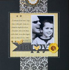 a happy, lovely layout by Marinette Lesne