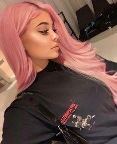 Hair Human Hair Princess Pink Lace Front Wigs for Women Hair color Front Hair Human Lace Pink Pink hair Princess Wigs Women Kylie Jenner Outfits, Look Kylie Jenner, Kylie Jenner Hair, Kylie Hair, Kardashian Jenner, Brown And Pink Hair, Pastel Pink Hair, Pink Wig, Hair Color Pink