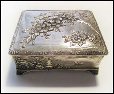 Vintage Silver Plated Asian Jewelry Box by RalucaElf on Etsy, $27.00