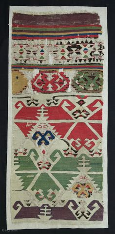 Early Central Anatolian Kilim Fragment, 18th century, 55x125cm, great qualities, quite similar to the much bigger fragment in Mccoy jones collection (Anatolian Kilims, plate 59, small but very representing...