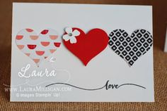 """Laura Milligan, Stampin' Up! Demonstrator - I'd Rather """"Bee"""" Stampin!: More Hearts - SU - Hello Life, Valentine, love"""