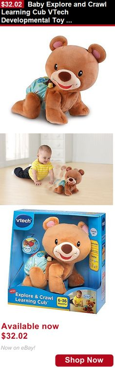 Developmental Baby Toys: Baby Explore And Crawl Learning Cub Vtech Developmental Toy Interaction Colors BUY IT NOW ONLY: $32.02