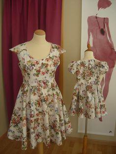 Vestido Coleção Mãe e Filha  ❁  Enjoy this work ! By Luisa B. ✄ — em Achor Moda Atelier - Luisa Bandeira.
