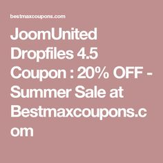 JoomUnited Dropfiles 4.5 Coupon : 20% OFF   - Summer Sale at Bestmaxcoupons.com