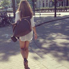 Zara sandals, Bershka sheerblouse  high waist short, Louis vuitton neverfull gm, Louis vuitton mini pochette