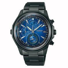 WIRED ワイアード SEIKO セイコー THE BLUE ザ ブルー SKY スカイ  クロノグラフ 腕時計 メンズ ブルー AGAW421