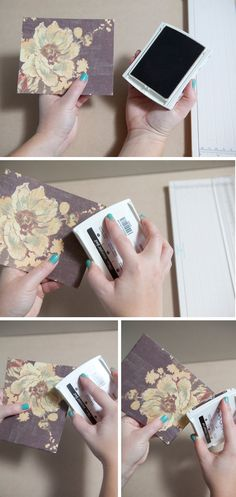 DIY - greeting card mini-album! An adorable way to save and view your special cards! SomethingTurquoise.com