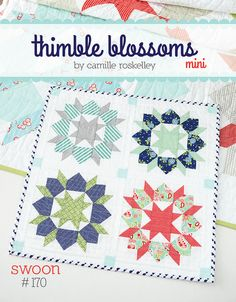 """Mini Swoon cover by croskelley, via Flickr The blocks are 8"""", so the whole quilt is 19"""" for a mini."""