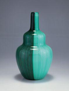 Carlo Scarpa; Glass Vase for Venini, 1940.