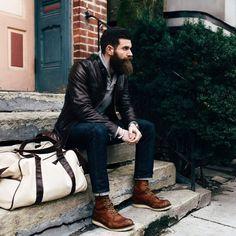 Beard in Leather