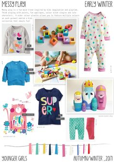 Emily Kiddy: Messy Play - Autumn/Winter 2016/17 - Baby/Layette Girls Trend