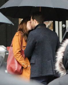 See the steamy photo from the pair's first official day on set together for the highly-anticipated sequel to Fifty Shades of Grey.