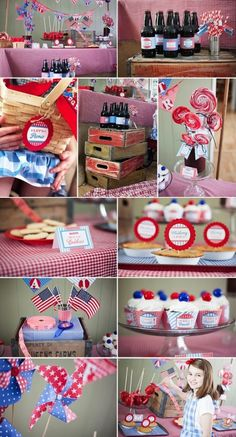 Vintage 4th of July or Memorial Day Picnic Party FULL of ideas! PRINTABLES,